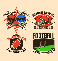 Raw drawing american football label vector