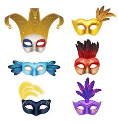 realistic carnival or masquerade mask icon vector image