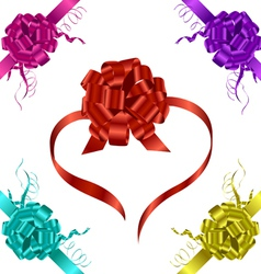 ribbons with bow vector image