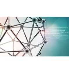 Scientific 3d model molecule an atom vector