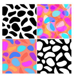 set blob seamless pattern background fluid vector image