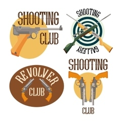 Set of logo shooting club vector image