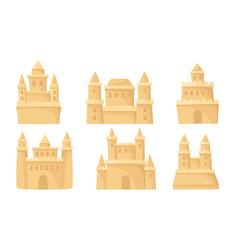 Set sand castles on a vector