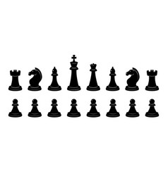 Silhouette of chess monochrome vector