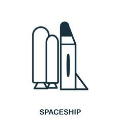 spaceship icon flat style icon design ui vector image