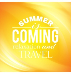 Summer coming phrase over wave background vector