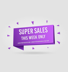 Super sales promotion banner tag vector