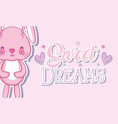 Sweet dreams bunny cartoons vector