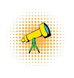 Telescope icon comics style vector