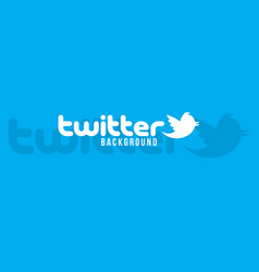 Twitter logo background image vector