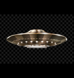 ufo unidentified flying object futuristic vector image