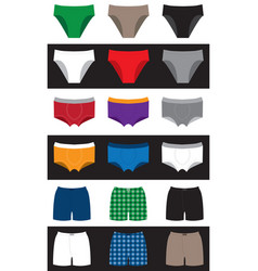 underpants for men children women family vector image
