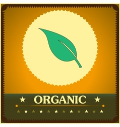 Vintage style organic poster vector