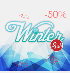 Winter sale blue background image vector