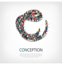 conception people sign 3d vector image vector image