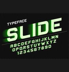 decorative font design alphabet typeface vector image