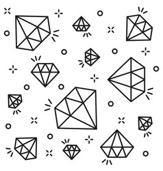 diamond background black line style vector image vector image