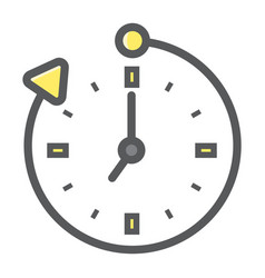 Overtime colorful line icon business and clock vector