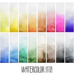 Watercolor gradient rectangles vector