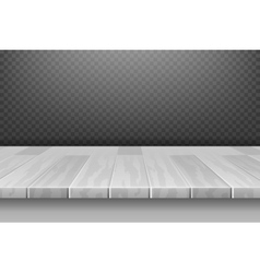 Wood white desk table top surface in perspective vector image vector image