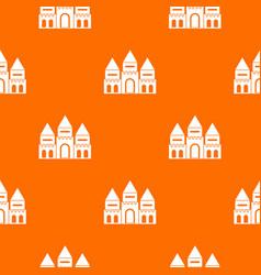 children house castle pattern seamless vector image vector image