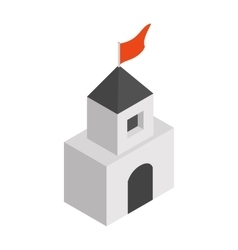 Medieval tower isometric 3d icon vector image