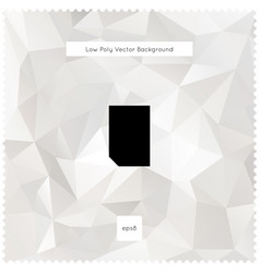 abstract white polygonal background vector image vector image