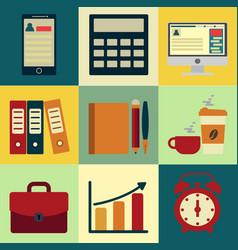 business icons with background design of vector image vector image