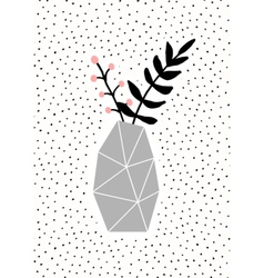 Concrete Vase with Branches vector image vector image