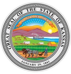 Kansas Seal vector image vector image