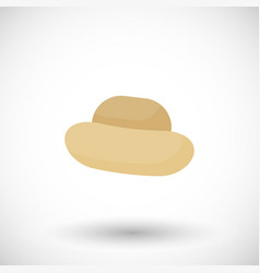 straw hat flat icon vector image