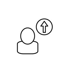 career up icon vector image