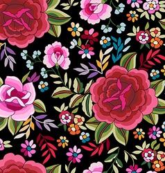 Flamenco print - seamless background vector image vector image