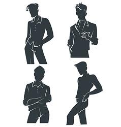 handsome men vector image