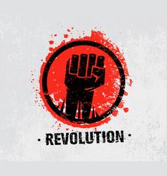 revolution socialprotest creative grunge vector image vector image