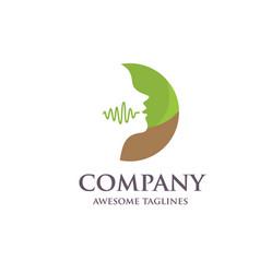 speech therapy logo vector image
