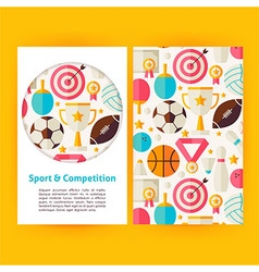 Sport and Competition Banners Set Template vector image