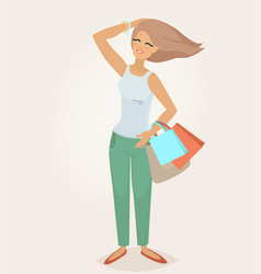 A woman with long hair vector
