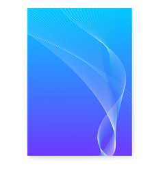 abstract blue background with blended lines vector image