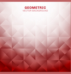 abstract geometric triangles pattern red vector image