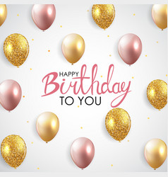abstract happy birthday balloon background card vector image