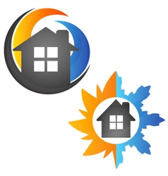 Air conditioning house vector