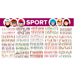 athlete set man woman group of sports vector image