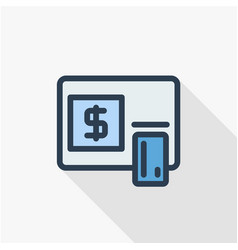 atm banking dollar cash card money finance vector image