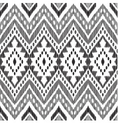 black and white chevron seamless pattern vector image
