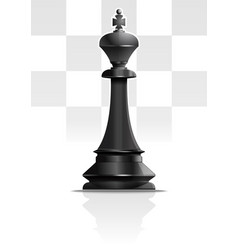 Black chess king chess piece icon vector