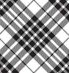 Blackberry tartan diagonal seamless black and vector
