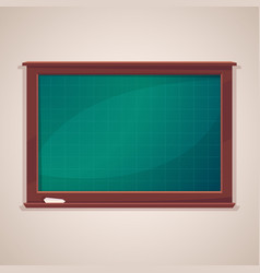 blank class blackboard with chalk piece vector image