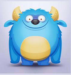 Blue monster vector