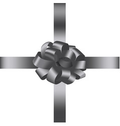bow with ribbon 3 vector image